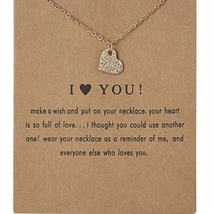 Jewelry - Heart Necklace I Love You Gold Chain Necklace